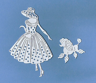 Die Cut Silhouette Tattered Lace Emma /& Perdy Out for A Stroll  Card Toppers