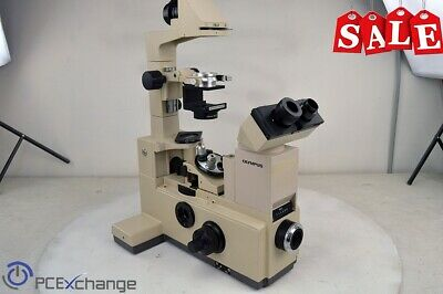 Olympus IMT-2 Inverted Research Microscope w/ 10x and 40x Objectives