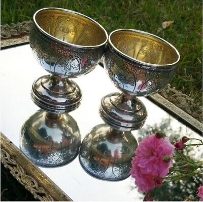 Antique Sterling Silver Cups