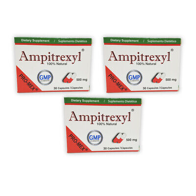 ProMex Ampitrexyl Natural Antibiotic Dietary Supplement 500 mg 30 Caps Pack of 3