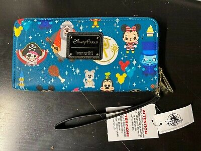 NWT Disney Parks Loungefly Magic Kingdom Attractions Rides Icon Wallet