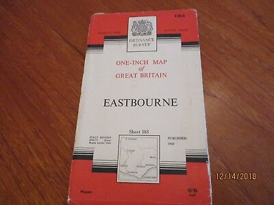 Ordnance Survey  Map Number 183 Easybourne Published 1960 Revised 1964