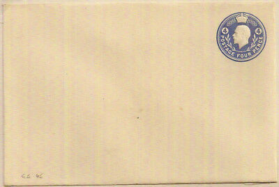 GB 1950 Rare George V 4d BLUE DIE EMBOSSED POSTAL STATIONERY ENV SUPERB MINT