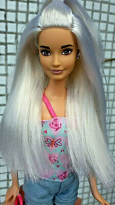 Skipper Mold Barbie Fashionistas Platinum Pop #63 HYBRID Doll Belly Button Body