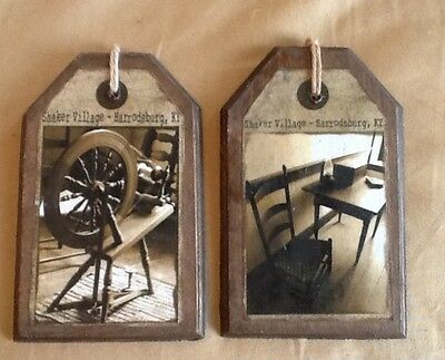 5 WOODEN Handcrafted SHAKER ART Hang Tags/ORNIES/Ornaments SET55