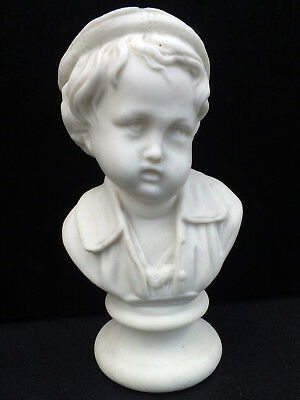 Antique Parian Boy - Unmarked & Unusual Piece - Fab Expression!