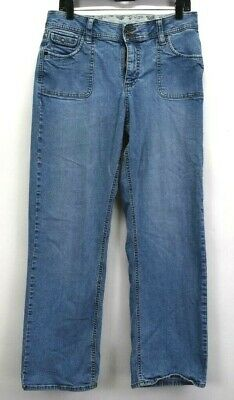 Riders Women's Casual Wear Comfort Stretch No Gap Waistband Denim Blue Jeans