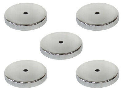 5x round Magnet Ø81mm with Centre Hole to 43kg Holding Strength Chromblende