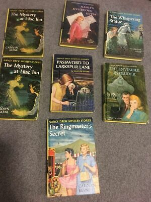 NANCY DREW Mystery Stories Yellow Hardcover Lot of 7