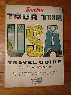 Sinclair Gasoline Oil Advertising Travel The USA Rand McNally Vintage Book
