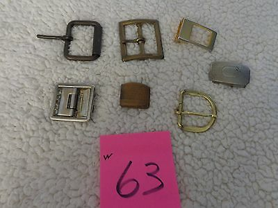 vintage lot of 7 metal belt buckles,sure grip,officers equipment,50's,brass,