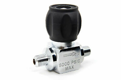 """SCUBA or Paintball Compressor Line Valve, 1/4"""" Male to Male 7000 psi"""