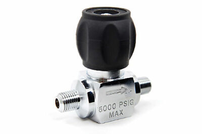 SCUBA or Paintball Compressor Line Valve, Male to Male 7000 psi