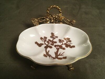 Vintage Hollywood Regency Stylebuilt Matson Gold Ormolu Tree Soap Dish