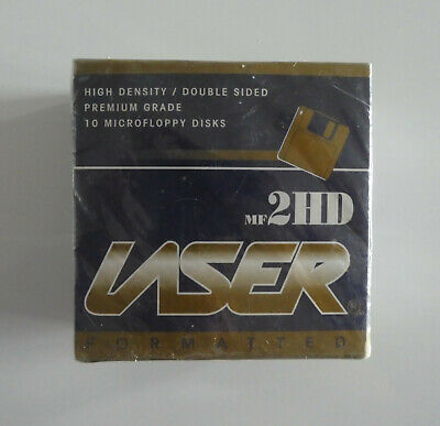 Laser MF2HD Formatted Double Sided Premium Grade 10 UNUSED Microfloppy discs