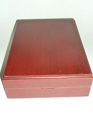 Collector Wooden Cigar Humidor Box, Case In Unused Condition! Must See!