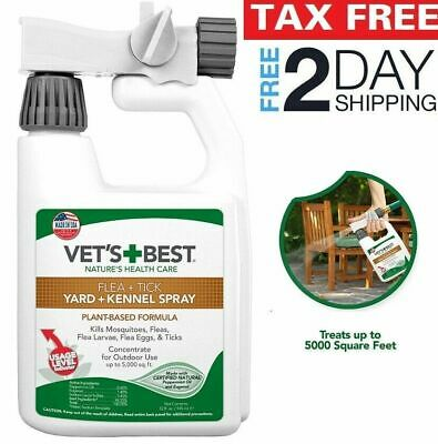 FLEA, TICK MOSQUITO Yard and Kennel Spray for Outdoor Dog Vet's Best Treatment