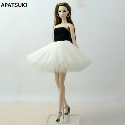 "Black White Patchwork Ballet Dress For 11.5"" Doll Clothes For 1/6 Dolls Kids Toy"