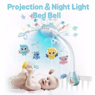 Infant Baby Rotary Music Crib Bed Bell Nursery Mobile Box Holder Arm Hanging Toy