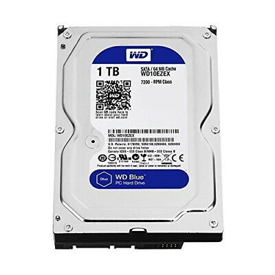 "WD Blue 1TB SATA3 64MB 3.5"" 7200RPM 6Gb/s 64MB Cache HDD"