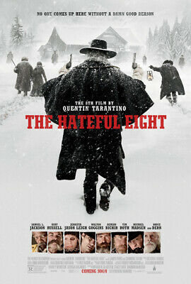 THE HATEFUL EIGHT MOVIE POSTER 2 Sided ORIGINAL FINAL 27x40 QUENTIN TARANTINO