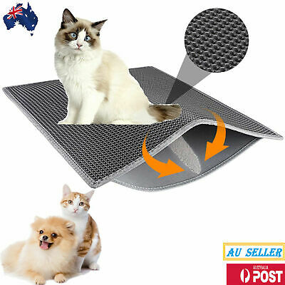 Cat Litter Tray Layer House Box Pad Trap Mat Double Catch Cat Toilet care AUS SL
