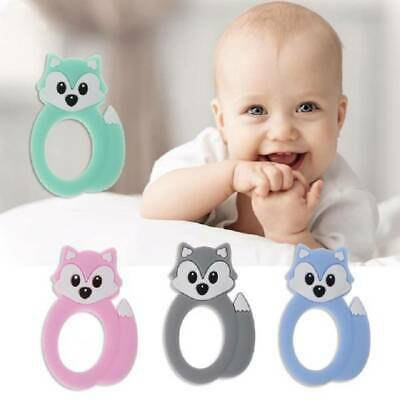 Baby Teether Kid Food Grade Silicone Pacifier Soft Teething Chew Toy