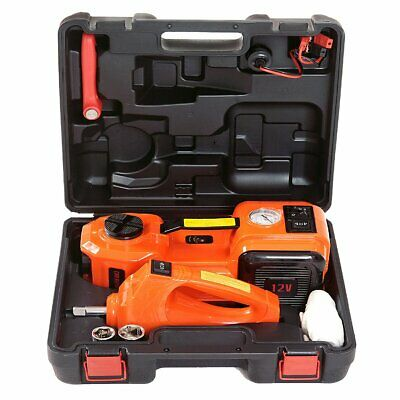 12V DC 5T 3-in-1 Auto Car Electric Hydraulic Floor Jack Lift +Impact Wrench Tool