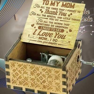 Wooden Music Box Mom/Dad To Daughter-You Are My Sunshine Engraved Toy Gift