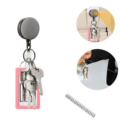 Telescopic Wire Rope Anti Lost Keychain EDC Retractable Key Ring Finder Gadget