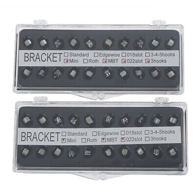 Orthodontic materials with metal mesh bottom straight wire brackets