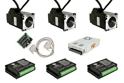 3Axis NEMA23 23SSM6440 Closed-Loop Stepper motor 1.1N.m 1000line&HBS57 CNC KIT