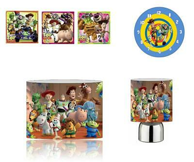 Toy Story (005) Bedroom Bundle - Canvas,Touch Lamp, Lampshade, Clock