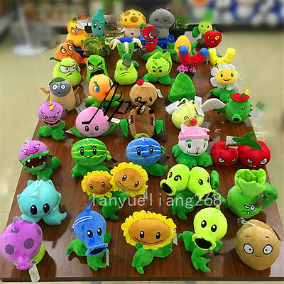 Plants vs Zombies 2 PVZ Figures Plush Baby Staff Toy Stuffed Soft Doll 13-35CM