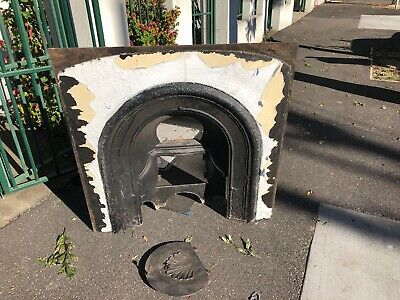 Victorian Cast Iron Fireplace Insert with Damper Plate