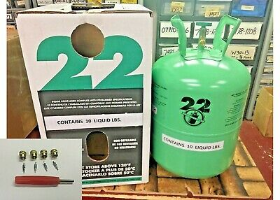 R22 R-22 R 22 Refrigerant 10lb Cylinder, Virgin Pure, USA, Free Shipping, Kit M