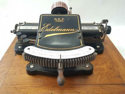 ►Antigua maquina de escribir THE EDELMANN index rare circa 1898 TYPEWRITER►
