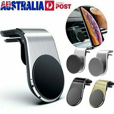Universal Phone Holder Clip Car Air Vent Magnetic Bracket Mobile Phone GPS OD