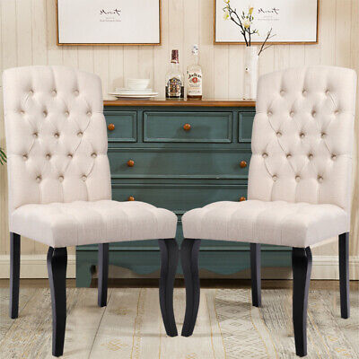2xButtoned Chesterfield Style Dining Chairs Dining Room Kitchen Restaurants Seat