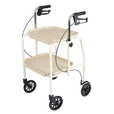 Days Trolley Walker With Brakes White - 091557289