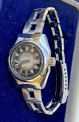Vintage diver 70s Zenith Defy lady star-gay freres long bracelet.good conditions