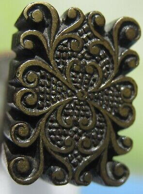 Antique Bookbinding Book Binding Old Hand Decorative Paas Tool Gilding Leather