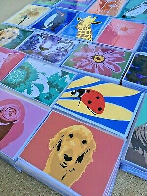 Job Lot - Wholesale Bundle 100 Greetings Cards, individually wrapped, ex-stock