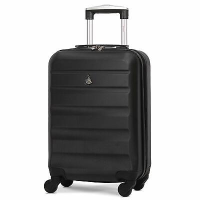 Aerolite 55x35x20 Cabin Carry On Lightweight Hand Cabin Bag Suitcase Black