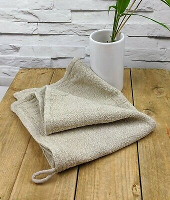 3 Handmade Eco Friendly Multi Purpose Cleaning Cloth. Natural Cotton / Linen Mix