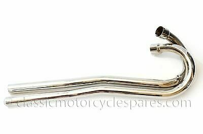 Exhaust Pipes, Triumph T120 TR6C High Level L&R, 1967 on 70-7024 70-7026 UK Made