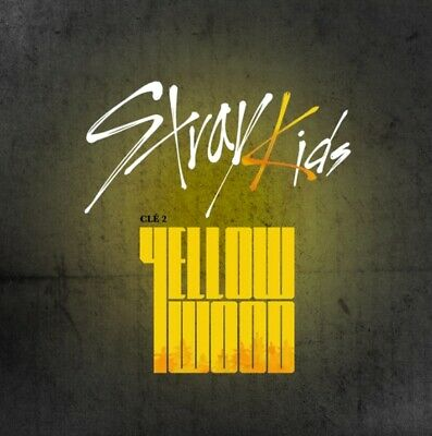 K-POP STRAY KIDS Album [Cle 2 : Yellow Wood] Normal Ver. CD+P.Book+3p QR P.Card