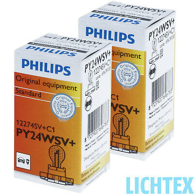 PY24W PHILIPS SilverVision - Ultimate Style Chrom-Effekt DUO-Box-Pack