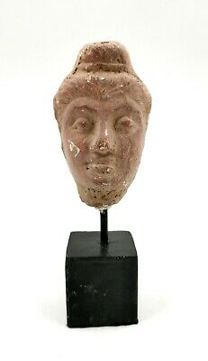 Unusual Rare Greek Hellenistic Ca.400 Bc Terracotta Head - R319