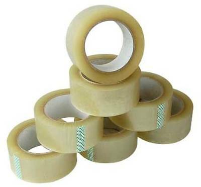 Heavy Duty Clear Sellotape Parcel Packing Tape - 25mm / 50mm x 66M 6,12,24 Rolls